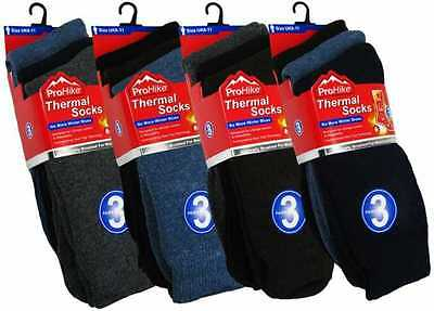 Mens Quality Acrylic Internally Brushed Thermal Socks Christmas Gift 12 Pair Lot