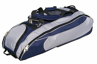 Regular Cobra Roller Bat Bag in Navy Blue and Silver equipment roller bat bag