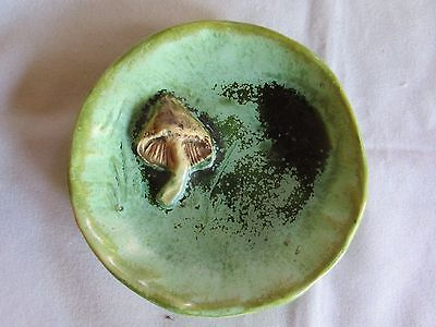 Louise Taylor dish decorated with mushroom Australian Pottery Aus Pottery