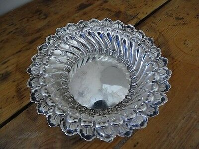 Antique Silver Ornate Bowl Dish Chester 1809 William Neal