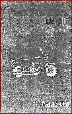Honda CB400F Spare Parts List Book 1974 *NEW