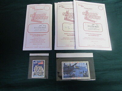 """Three packages of """"Stamp Mount"""" often used for APS sales books 2 different sizes"""