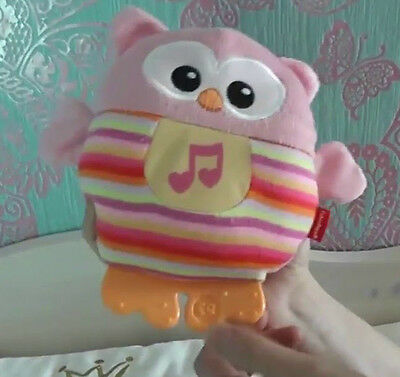 SOOTHE & GLOW OWL * Fisher-Price * Lightup Musical Comforter Light Baby