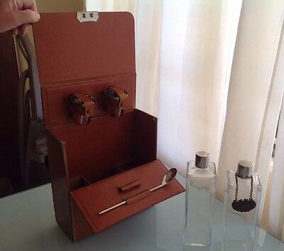 Vintage Rumpp Leather Case  Travel Bar Set