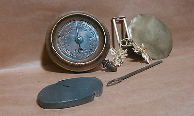 antique original Gilbert clock pendulum as is parts or restore brass leaves