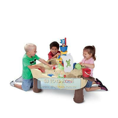 Little Tikes Anchors Away Pirate Ship Kids Outdoor Water Sand Table Fun Toy