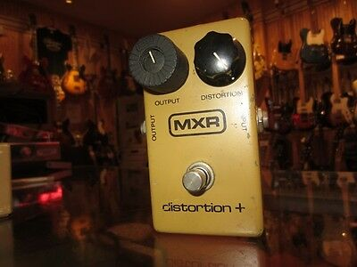 Vintage Circa 1979 MXR Distortion + Yellow Distortion Effect Pedal Warm Tone