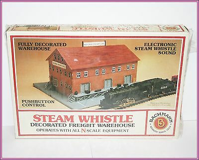 Decorated Freight Warehouse Electronic Steam Whistle Bachmann N Scale Train
