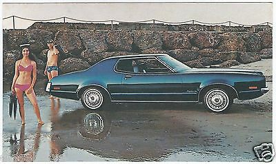 1972 Mercury MONTEGO MX 2-Door HARDTOP Original Dealer Promo Postcard UNUSED Ex