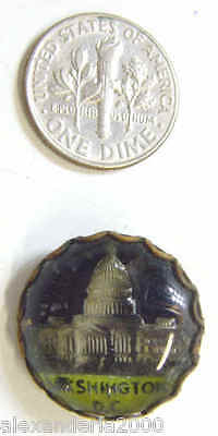 1860's Antique Civil War Washington Dc Capitol Dome Usa Brooch Pin 42739