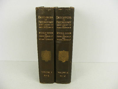 Encyclopedia of Freemasonry and its Kindred Sciences by Mackey 2 Book Set 1924.