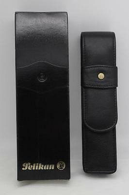 Vintage PELIKAN Black Leather Pouch *New Old Stock*