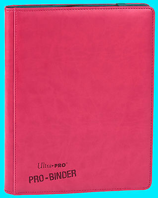 ULTRA PRO 9 POCKET PREMIUM LEATHERETTE BRIGHT PINK BINDER STORAGE Page 360 Card