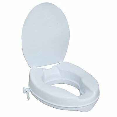 NRS Healthcare N05289 Stanton Raised Toilet Seat – with lid