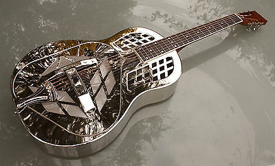 Zilpha by ChickenboneJohn - Tricone resophonic guitar, nickel plated brass NEW