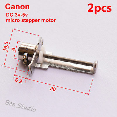 2PCS DC 3V 5V Micro Stepper Motor 2-phase 4-wire Motor linear Lead screw slider