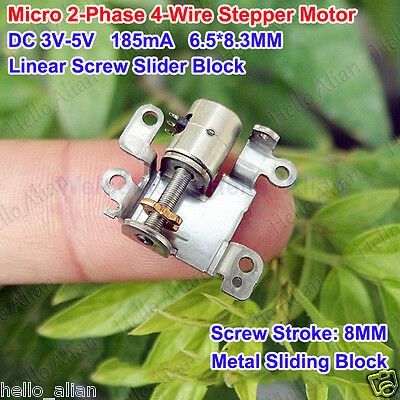 DC 5V Micro Mini 2-Phase 4-Wire Stepper Motor Lead Screw Slider Nut for Camera