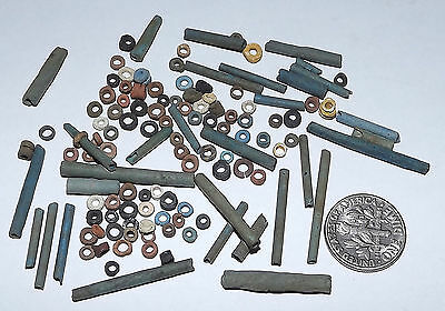 More than a Hundred 2500 Year old Ancient Egyptian Faience Mummy Beads (#D8699)
