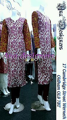 Ethnic Pakistan Designer Printed Thick Shalwar Kameez(Readymade)Stitch-Size=L