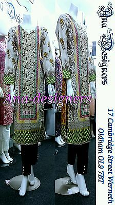 Ethnic Pakistan Designer Printed Thick Shalwar Kameez(Readymade)Stitch-Size=S
