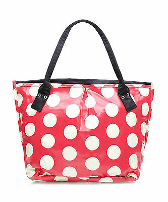 Ladies polka dot bag - Oilcloth tote bag - Shopper Craft bingo or Beach bag