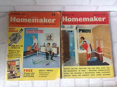 Vintage 1960's Homemaker Magazines x 2 DIY Gift Collectible