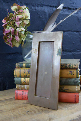 Old Reclaimed Heavy Solid Brass Vertical Letter Mail Box Slot
