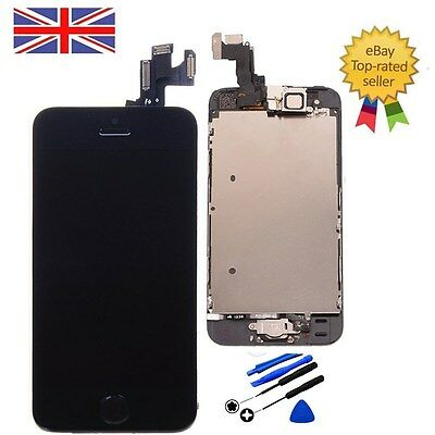 For iPhone 5S Screen Black Full LCD Display Touch Digitizer Assembly Replacement
