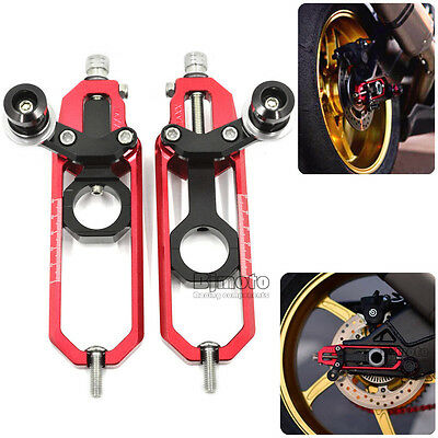 Aluminium Chain Adjusters Tensioner For BMW S1000RR 2009-2015 S1000R 2013-15 Red