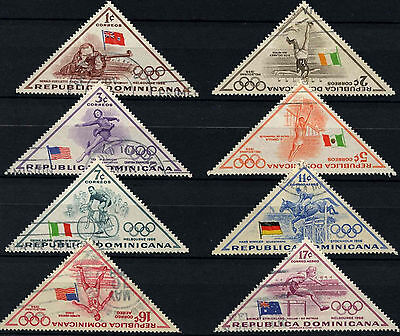 Dominican Republic 1957 SG#713-721 Olympic Games Used Set #D37620