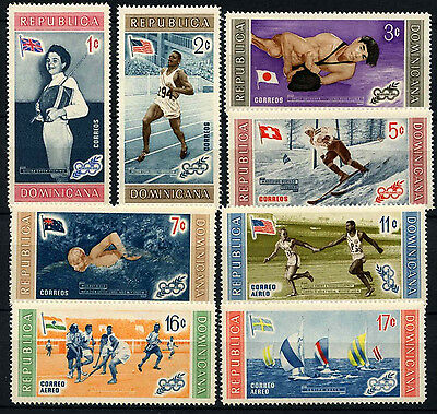 Dominican Republic 1958 SG#748-756 Olympic Games MH Set #D37615