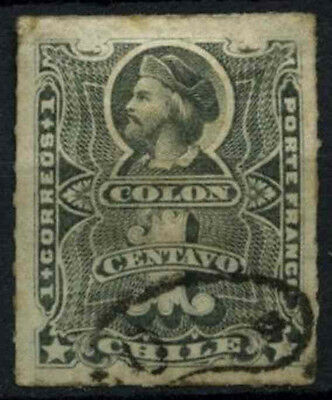 Chile 1877 SG#49, 1c Slate Used #D37441
