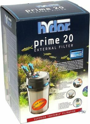 Hydor Prime 20 External Aquarium Canister Fish Tank Filter Marine Reef Tropical