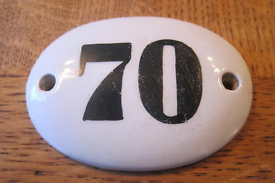 Antique Victorian large ceramic door number plaque -Range of numbers available
