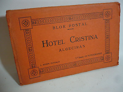 Set of 10 Hotel Cristina Algeciras Spain Postcards - c1925