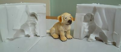 4.5cm 3D LABRADOR DOG SILICONE MOULD FOR CAKE TOPPERS, CHOCOLATE, CLAY ETC