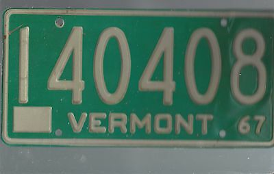 Vintage 1967 VERMONT license plate 140408 AMON CARTER COLLECTION#2