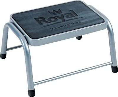 Royal Single Deluxe Steel Step for Caravan Motorhome | Non-Slip Rubber Platform