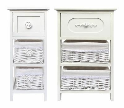 Assemble White French Country Chest of Drawer Hallway Bedside Table Unit Cabinet