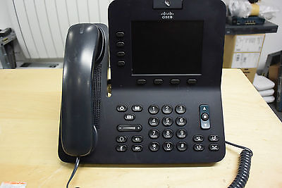 Cisco CP-8945-K9 Unified PoE VoIP IP Video Desk Phone