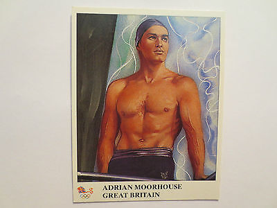 Adrian Moorhouse Great Britain Swimming Gold Medal 1988 Olympics Champions Card
