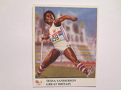 Tessa Sanderson Great Britain Javelin Gold Medal Olympics Champions Card