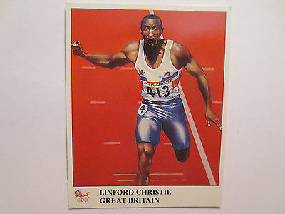 Linford Christie Great Britain Athletics Gold Medal 1992 Olympics Champions Card