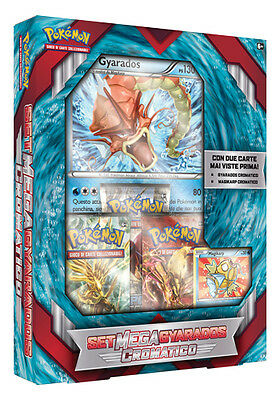 Box Pokemon SET MEGA GYARADOS CROMATICO + Carta Gigante + 3 Buste IN ITALIANO