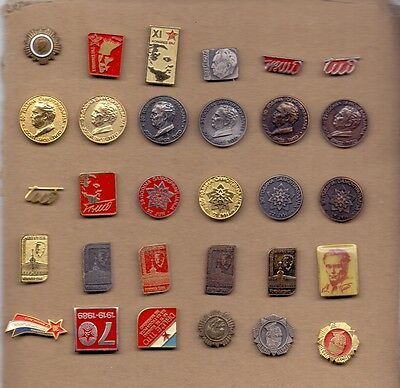 Pins - Tito, Communism - 30 Different Pins - Yugoslavian Edition - Variant 2