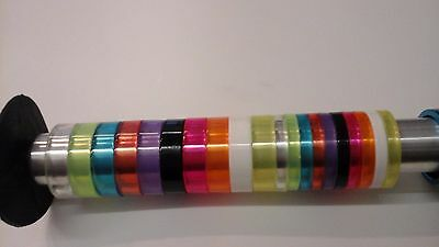 "Lightweight plastic 1 1/8"" headset spacers. Lots of colours 5mm and 10mm"