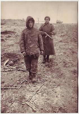 Ussr Wwii Press Photo: Captive German Soldier Being Convoyed By Russian