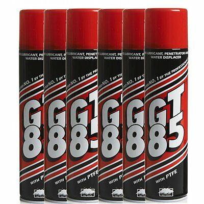 GT85 X 6 Cans PTFE Chain Lubricant Water Displacer 400ml Bicycle Bike Cycle NEW