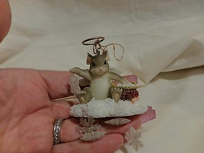 CHARMING TAILS SnowflakeS SNOW ANGEL ORNAMENT DEAN GRIFF(14)