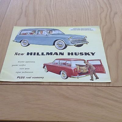 Hillman Husky 8 Page Fold Out Sales Brochure Ref 597/H August 1960